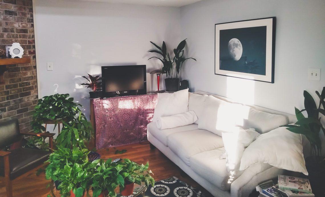truly claire living room interior - white sofa