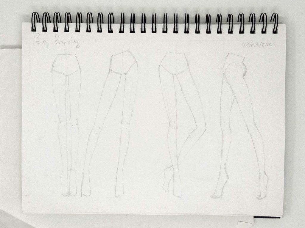 sketching fashion illustration leg study