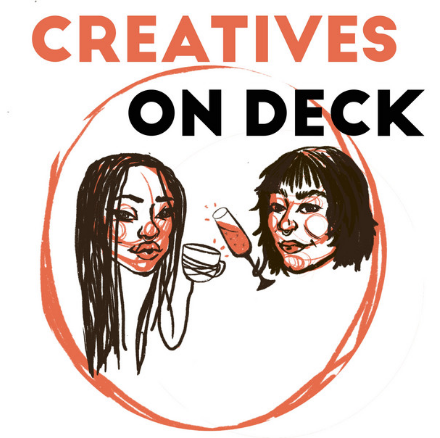 podcasts logo creatives on deck